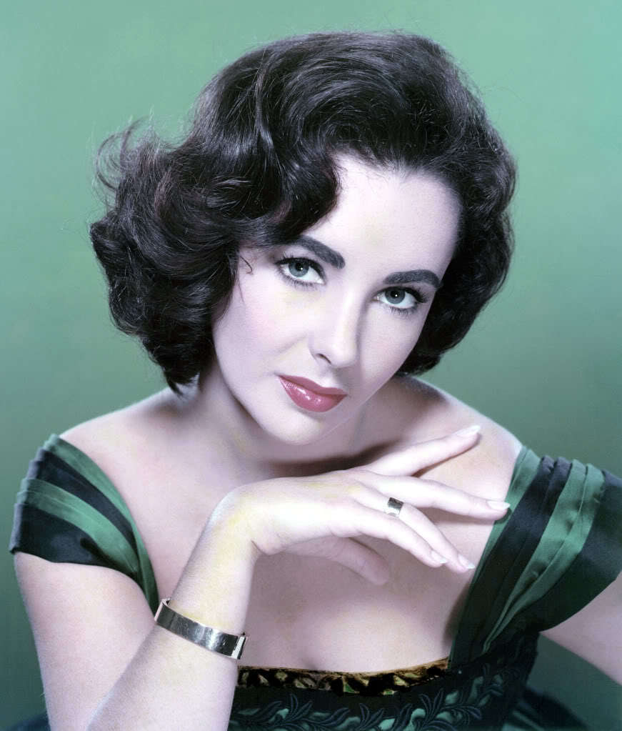 Elizabeth-Taylor-1950s-Green-gown