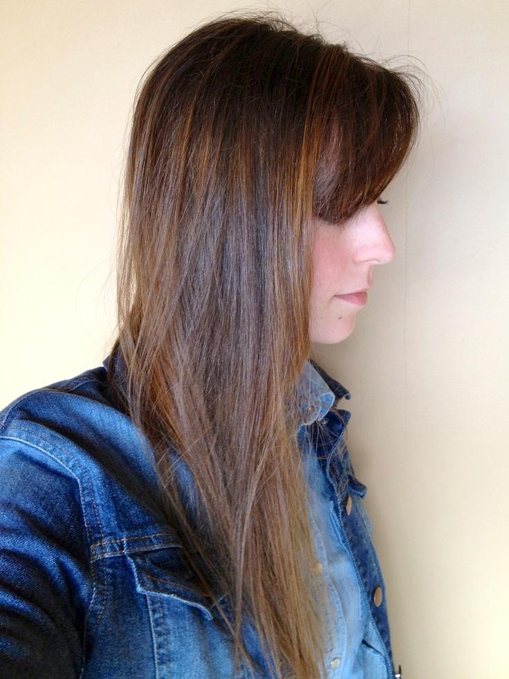 Así luce en el pelo liso