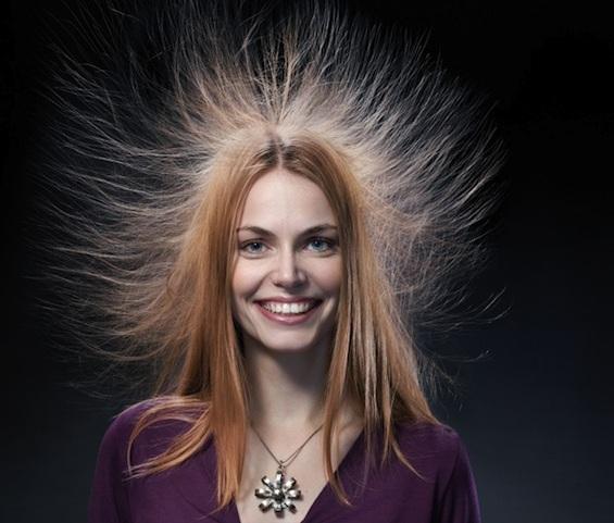 cabello con estática