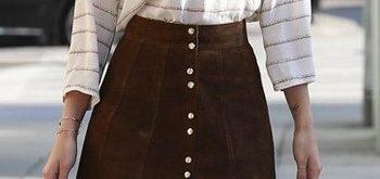 falda café