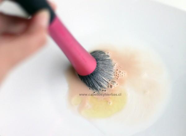 shampoo y brocha de maquillaje 2