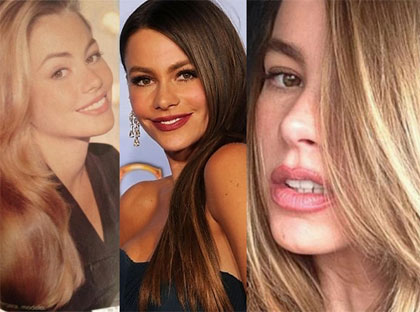 Sofia vergara color de pelo natural
