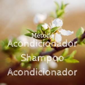 Método acondicionador shampoo acondicionador