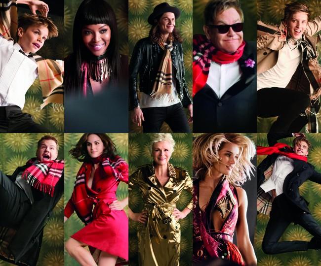 Burberry Festive Film - The Cast, shot by Burberry